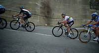 Milan-San Remo 2012.raceday.Mark Cavendish gets dropped up Le Manie