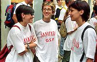 G8  Genova  Luglio 2001.Il servizio sanitario del Genova Social Forum.