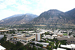 1309-22 0323<br /> <br /> 1309-22 BYU Campus Aerials<br /> <br /> Brigham Young University Campus West looking East, Provo, Sunrise, Y Mountain,  Kimball Tower SWKT, Joseph F. Smith Building JFSB, Talmage Building TMCB, Benson Building BNSN, Joseph Smith Building JSB, Brimhall Building BMRB, Grant Building HGB, Eyring Science Center ESC <br /> <br /> September 6, 2013<br /> <br /> Photo by Jaren Wilkey/BYU<br /> <br /> &copy; BYU PHOTO 2013<br /> All Rights Reserved<br /> photo@byu.edu  (801)422-7322