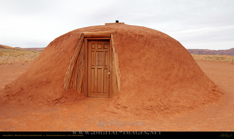 Navajo Dine Female Hogan, Monument Valley Navajo Tribal Park, Navajo Nation Reservation, Utah/Arizona Border