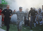 Ole Miss runs onto the field at Vaught-Hemingway Stadium in Oxford, Miss. on Saturday, September 10, 2011. Ole Miss won 42-24.