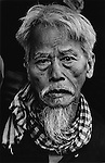 Portrait of an old Vietnamese man during the Têt offensive, Battle of Hué, Vietnam, February 1968