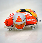 14 December 2007: Peter Van Wees, racing for the Netherlands, starts his first run at the FIBT World Cup Skeleton Competition at the Olympic Sports Complex on Mount Van Hovenberg, at Lake Placid, New York, USA. ..Mandatory Photo Credit: Ed Wolfstein Photo