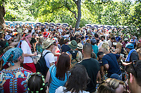 Eeyore's Birthday Party - day-long community festival Austin's Pease Park -Stock Photo Image Gallery
