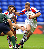 2005/06 Guinness Premiership Rugby, London Irish vs Bristol Rugby; bristol Rob Higgitt goe's for the gap.  Madejski Stadium, Reading, ENGLAND 24.09.2005   © Peter Spurrier/Intersport Images - email images@intersport-images..
