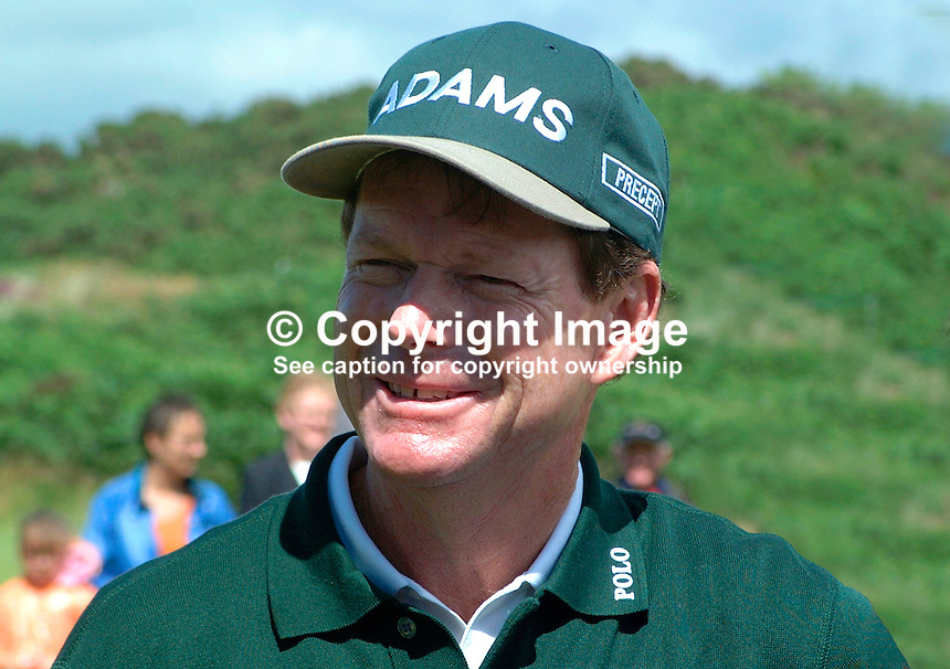 Tom Watson, professional golfer, USA. Ref: 200207230016. Photograph taken at ProAm prior to British Seniors Golf Championship at Royal County Down, N Ireland, UK...Copyright Image from Victor Patterson, 54 Dorchester Park, Belfast, UK, BT9 6RJ..Tel: +44 28 9066 1296.Mob: +44 7802 353836.Voicemail +44 20 8816 7153.Skype: victorpattersonbelfast.Email: victorpatterson@mac.com.Email: victorpatterson@ireland.com (back-up)..IMPORTANT: If you wish to use this image or any other of my images please go to www.victorpatterson.com and click on the Terms & Conditions. Then contact me by email or phone with the reference number(s) of the image(s) concerned.
