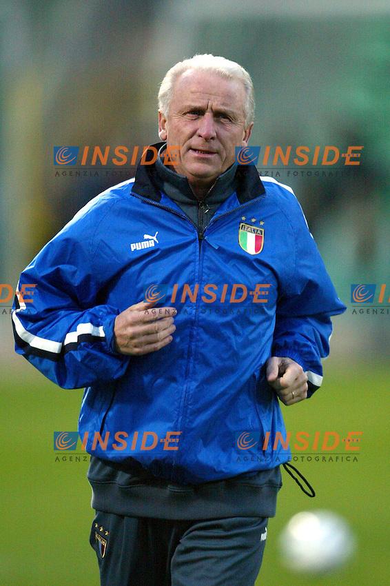 Palermo 18/2/2004 Amichevole - Friendly Match <br /> Italy Czech Republic - Italia Repubblica Ceca 2-2 <br /> Giovanni Trapattoni, Italy trainer<br /> Photo Andrea Staccioli Insidefoto