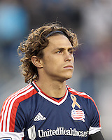 New England Revolution midfielder Ryan Guy (13).In a Major League Soccer (MLS) match, the New England Revolution (blue/red) defeated Philadelphia Union (blue/white), 2-0, at Gillette Stadium on April 27, 2013.
