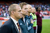 Colorado Rapids head coach Gary Smith stands on the sideline before the game at RFK Stadium in Washington, DC.  D.C. United tied the Colorado Rapids, 1-1.