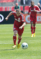 April 27, 2013: Toronto FC midfielder Hogan Ephraim #31in action during a game between Toronto FC and the New York Red Bulls at BMO Field  in Toronto, Ontario Canada..The New York Red Bulls won 2-1.