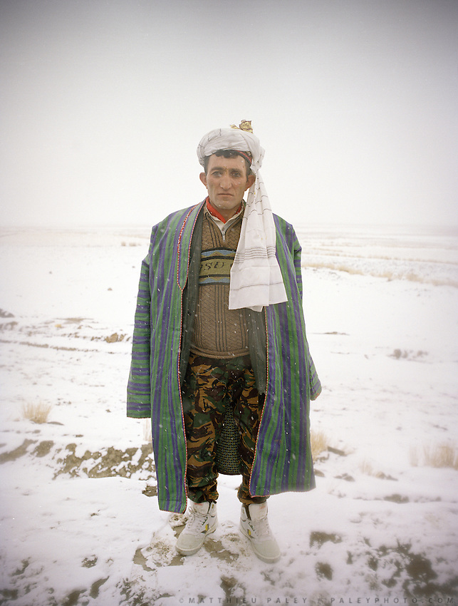 Portrait of the groom. In Imit (just past Khandut), wedding celebration of Tawakal Shoh with famous singer/dancer named Alowat..Wakhi wedding ceremonies only takes place in teh winter months. The Wakhi do most of their business with Afghan Kyrgyz..Winter expedition through the Wakhan Corridor and into the Afghan Pamir mountains, to document the life of the Afghan Kyrgyz tribe. January/February 2008. Afghanistan