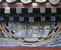 BB01693-02...CHINA - Painting in the Long Corridor at the Summer Palace in Beijing.