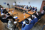 Foto: VidiPhoto<br /> <br /> HUIZEN - Bijeenkomst van de leden van de Gereformeerde Bond in kerkelijk centrum 't Visnet in Huizen.