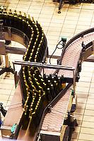 Bottling line. Vallformosa, Vilobi, Penedes, Catalonia, Spain