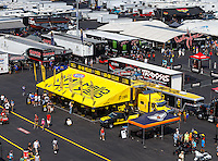 Sep 16, 2016; Concord, NC, USA; Overall view of the Mello Yello display on the midway in the NHRA pits during qualifying for the Carolina Nationals at zMax Dragway. Mandatory Credit: Mark J. Rebilas-USA TODAY Sports