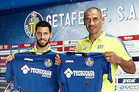 Getafe's new players Paul Anton and Facundo Castillon