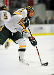 10 January 2009: University of Vermont Catamount forward Viktor Stalberg, a Junior from Gothenburg, Sweden, takes a shot against the Boston College Eagles in the second game of a weekend series at Gutterson Fieldhouse in Burlington, Vermont. The Catamounts rallied from an early 2-0 deficit to defeat the visiting Eagles 4-2. Mandatory Photo Credit: Ed Wolfstein Photo