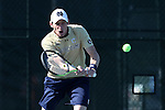 23 April 2015: Alex Lawson. The Notre Dame University Fighting Irish played the Georgia Tech University Ramblin' Wreck at the Cary Tennis Park in Cary, North Carolina in a 2015 NCAA Division I Men's Tennis and Atlantic Coast Conference Tournament First Round match. Georgia Tech won the match 4-0.