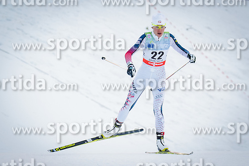 Sophie Caldwell (USA) during Ladies 1.2 km Free Sprint Qualification race at FIS Cross<br /> Country World Cup Planica 2016, on January 16, 2016 at Planica,Slovenia. Photo by Ziga Zupan / Sportida