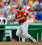 12 July 2008: Houston Astros' left fielder Carlos Lee in action against the Washington Nationals at Nationals Park in Washington, DC. The Astros defeated the Nationals 6-4 in the second game of their 3-game series...Mandatory Photo Credit: Ed Wolfstein Photo