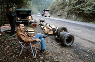 Kentucky, U.S.A, December, 1980. America severly marked by the recession. Typical of the Appalachian coal mines area, people selling door to door a variety of items.