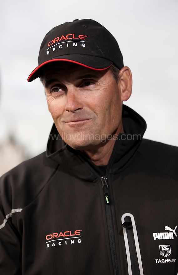 Russell Coutts CEO of Oracle Racing, current holder and 4 times winner of the Americas Cup a. Shown here in central London at the launch of  &quot;Ben Ainslie Racing&quot;. A new team that will compete in 2012 Americas Cup World Series..Credit: Lloyd Images / Ben Ainslie Racing