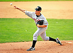 25 July 2010: Tri-City ValleyCats pitcher Michael Ness on the mound in relief against the Vermont Lake Monsters at Centennial Field in Burlington, Vermont. The ValleyCats came from behind to defeat the Lake Monsters 10-8 in NY Penn League action. Mandatory Credit: Ed Wolfstein Photo