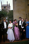 The Morning after. Commem Balls at Oxford. Magdalen College students in the breakfast queue afte the end of year May Ball. At Oxford these are called Commem Balls and take place in June but are universally know as the May Ball. The English Season published by Pavilon Books 1987 Page 100.