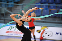 Elena Meirzon of Israel performs with ribbon during trainings at 2010 Holon Grand Prix at Holon, Israel on September 2, 2010.  (Photo by Tom Theobald).