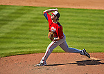 23 February 2013: Washington Nationals pitcher Erik Davis on the mound during a Spring Training Game against the New York Mets at Tradition Field in Port St. Lucie, Florida. The Mets defeated the Nationals 5-3 in their Grapefruit League Opening Day game. Mandatory Credit: Ed Wolfstein Photo *** RAW (NEF) Image File Available ***