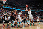 01 APRIL 2012:  Odyssey Sims (0) of Baylor University shoots against Stanford University during the Division I Women's Final Four semifinals at the Pepsi Center in Denver, CO.  Baylor defeated Stanford 59-47 to advance to the championship final.  Jamie Schwaberow/NCAA Photos