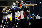 COLUMBUS, OH - MARCH 11:  Rachel Martin, of the University of Nebraska, competes during the Division I Rifle Championships held at The French Field House on the Ohio State University campus on March 11, 2017 in Columbus, Ohio. Martin finished sixth in the individual final with a score of 120.9. (Photo by Jay LaPrete/NCAA Photos via Getty Images)