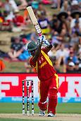15.02.2015. Hamilton, New Zealand.  Zimbabwe's Chamu Chibhabha batting during the ICC Cricket World Cup match - South Africa versus Zimbabwe at Seddon Park, Hamilton, New Zealand on Sunday 15 February 2015.