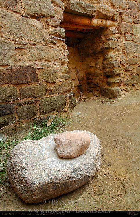 Exterior Doorway, West Ruin Anasazi Hisatsinom Chacoan Complex, Aztec Ruins National Monument, Aztec, New Mexico