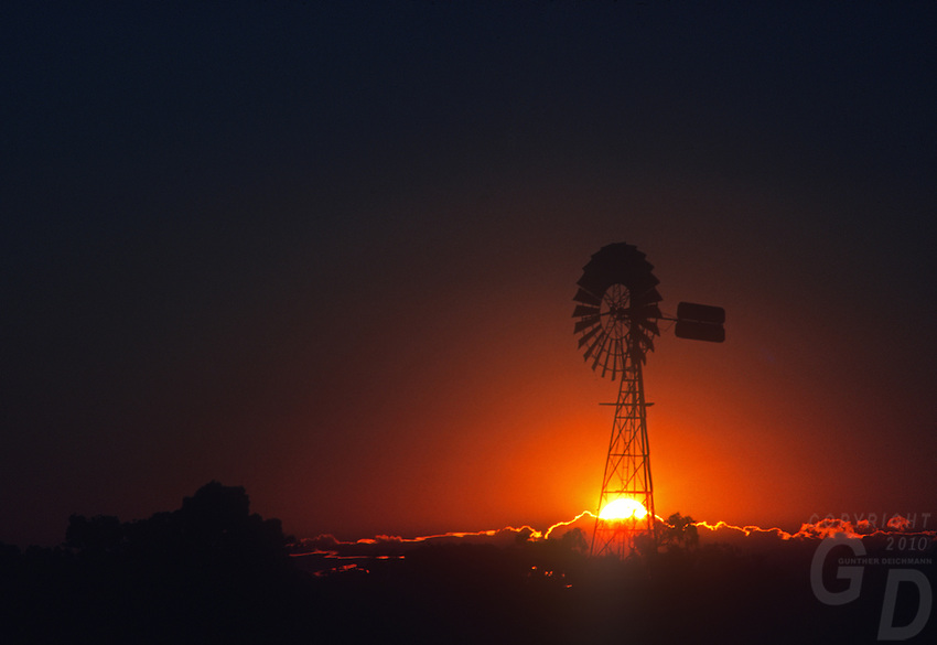 Outback Windmill and water well, Central Australia