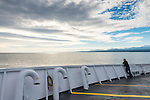 On the Black Ball ferry to Victoria BC under a lovely September sky.