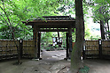 July 20, 2010 - Niiza, Japan - A thatched inner gate of Heirin-ji, a Rinzai temple of the Myoshin-ji branch located in Niiza city, Saitama prefecture, Japan, is pictured on July 20, 2010. Visiting the budhist temple is part of the 'True Japan Saitama - Zen Medidation and Buddhist Vegetarian Cuisine' tour, organized by the travel agency JTB for leisure travelers.