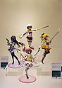 March 22, 2012, Tokyo, Japan - Figures depicting popular TV animation characters are on display at the Tokyo International Animation Fair 2012 opened at Tokyo Big Sight on Thursday, March 22, 2012. A total of 216 companies and organizations, including 89 from overseas, took part in the annual cultural festival of comics and animations. The organizers expect to draw more than 30,000 visitors during the four-day exhibition. (Photo by Kaku Kurita/AFLO) FYJ -mis-