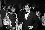October 1969. Singers Dionne Warwick and Sacha Distel in New York.