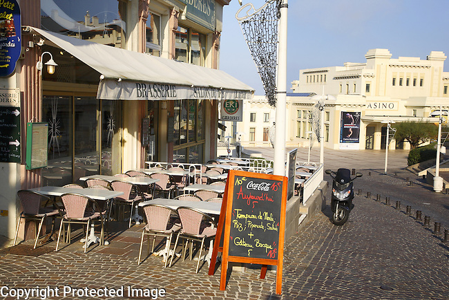 The Casino and Cafe, Biarritz, Aquitaine, Pyrenees Atlantiques, France