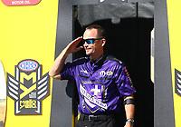 Mar 19, 2017; Gainesville , FL, USA; NHRA funny car driver Jack Beckman during the Gatornationals at Gainesville Raceway. Mandatory Credit: Mark J. Rebilas-USA TODAY Sports