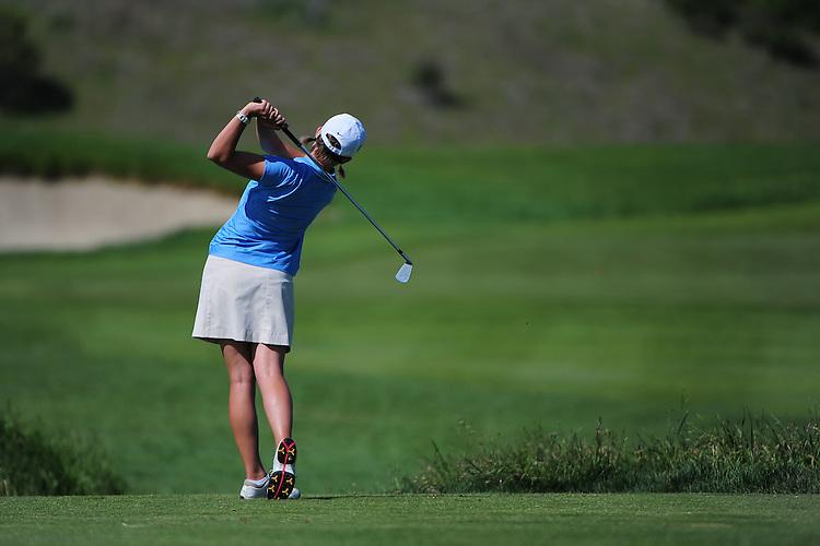 April 18, 2012; Hollister, CA, USA; Gonzaga Bulldogs golfer Stephanie Corey during the WCC Golf Championships at San Juan Oaks Golf Club.
