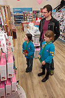 Davinia and Charlotte Reynolds take a look at some of the goodies on offer with their dad.
