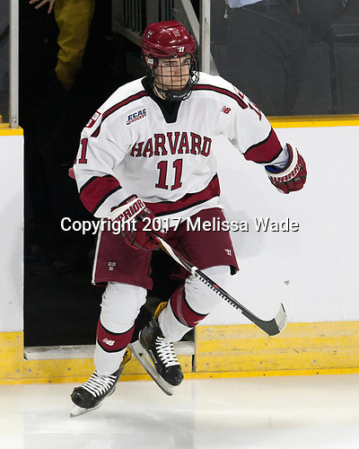 Ty Pelton-Byce (Harvard - 11) - The Harvard University Crimson defeated the Providence College Friars 3-0 in their NCAA East regional semi-final on Friday, March 24, 2017, at Dunkin' Donuts Center in Providence, Rhode Island.