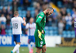 Kilmarnock v St Johnstone...19.09.15  SPFL Rugby Park, Kilmarnock<br /> A downbeat Alan Mannus at full time<br /> Picture by Graeme Hart.<br /> Copyright Perthshire Picture Agency<br /> Tel: 01738 623350  Mobile: 07990 594431