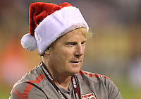 BOCA RATON, FL - DECEMBER 15, 2012: Rick Guter, head trainerof the USA  during an international friendly match against China at FAU Stadium, in Boca Raton, Florida, on Saturday, December 15, 2012. USA won 4-1.
