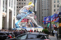 NEW YORK, NY - MAY 11: Jeff Koons Seated Ballerina, a large-scale public art installation, at 30 Rockefeller Center in New York City on May 11, 2017. Credit: RW/MediaPunch