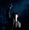 Three Comrades <br /> by Erich Maria Remarque <br /> Moscow Theatre <br /> Sovremennik <br /> at Piccadilly Theatre, London, Great Britain <br /> Press photocall <br /> 4th May 2017 <br /> <br /> Alexander Khovanskiy as Robert Lokhamp <br /> <br /> <br /> Photograph by Elliott Franks <br /> Image licensed to Elliott Franks Photography Services