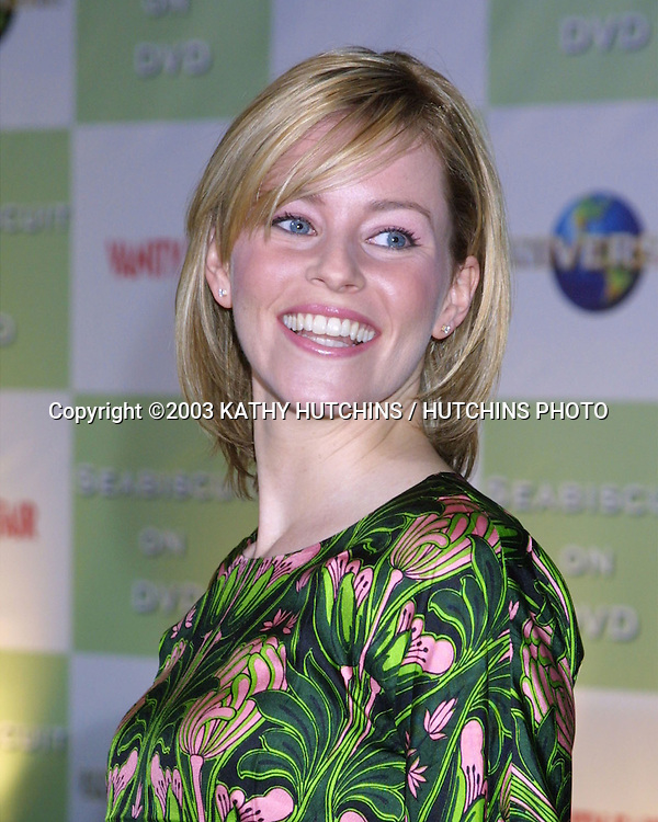 "©2003 KATHY HUTCHINS / HUTCHINS PHOTO.DVD LAUNCH PARTY FOR ""SEABISCUIT"".BEVERLY HILLS HOTEL.BEVERLY HILLS, CA.DECEMBER 15, 2003..ELIZABETH BANKS"
