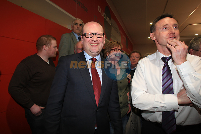 Ged Nash (Lab) on Left at the Louth election count in the DKIT in Dundalk Co Louth..Picture: Fran Caffrey / www.newsfile.ie.